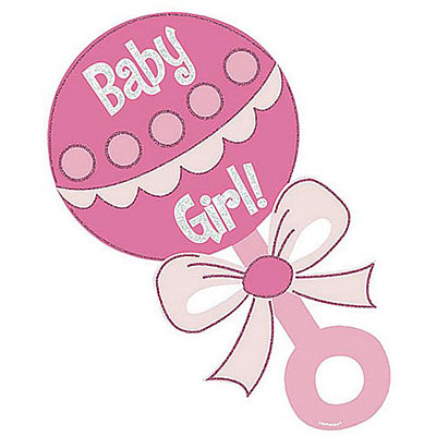 Rattle clipart pink. Baby girl