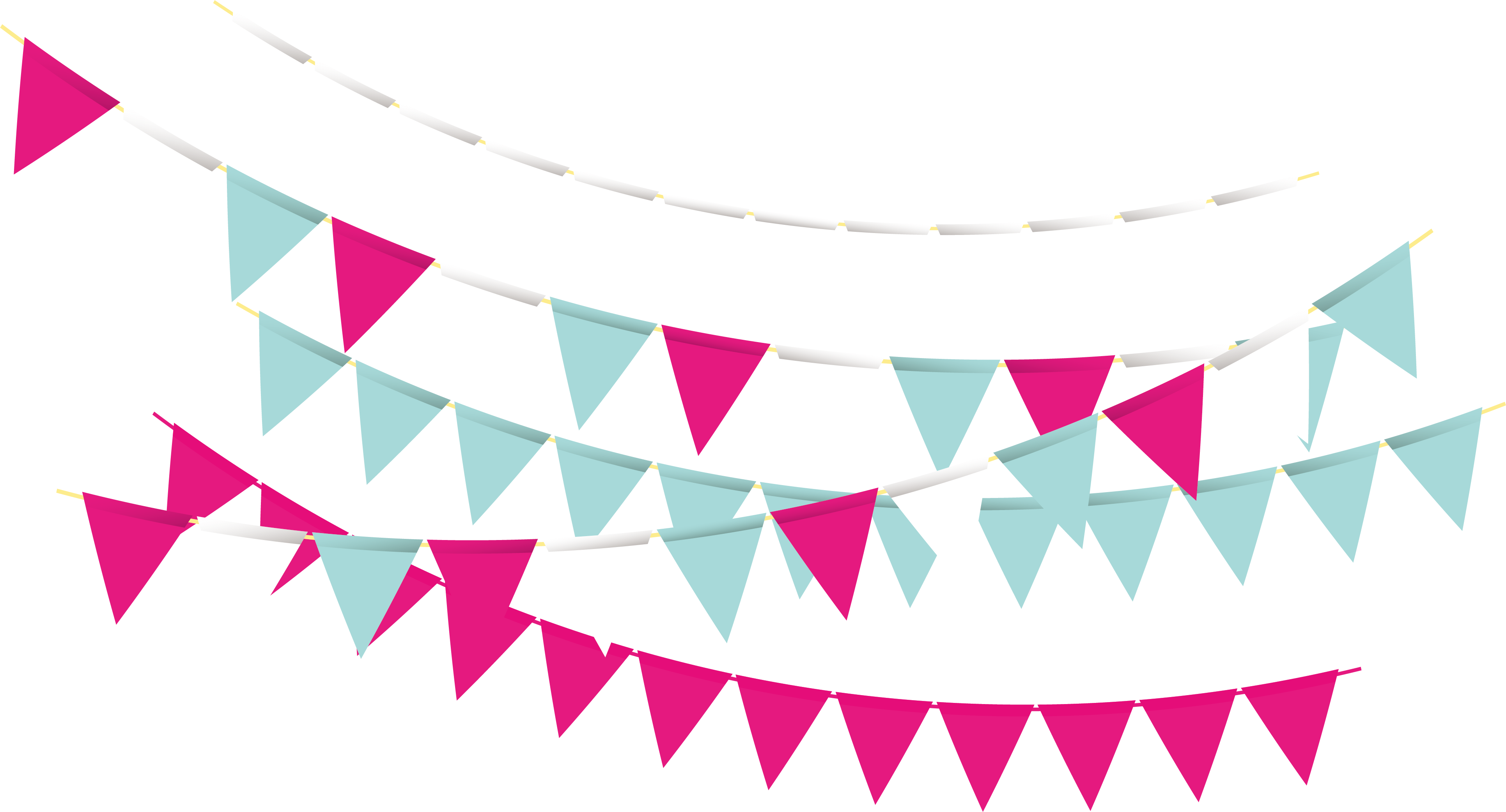 Rave party png. Triangle bunting transprent free