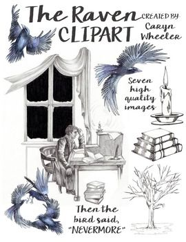 Raven clipart edgar allan poe raven. S the this package