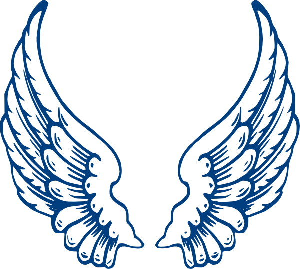 Raven clipart outstretched wing. Free eagle blue cliparts