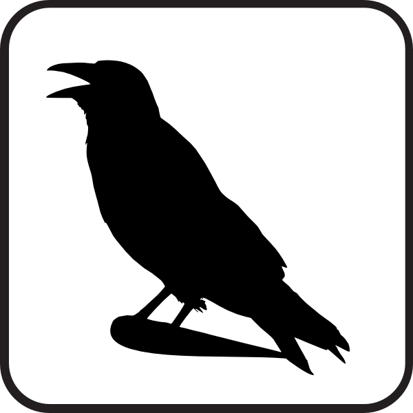 Raven clipart royalty free. Sign clip art at