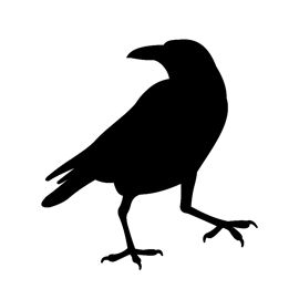 Raven clipart stencil. Visit the post for