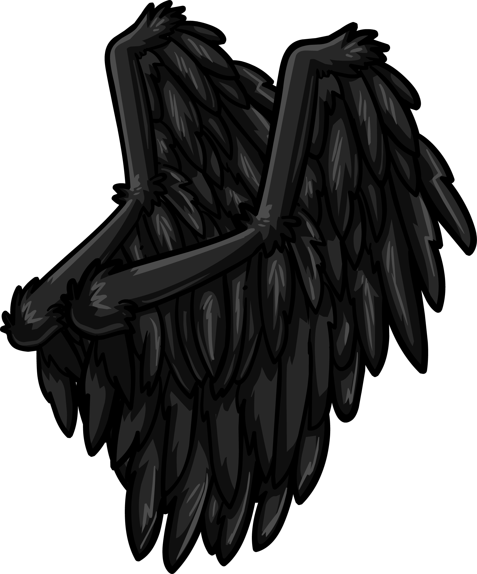 Drawing raven wing. Image wings png club