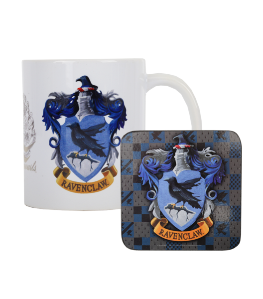 Ravenclaw crest png. Mug and coaster