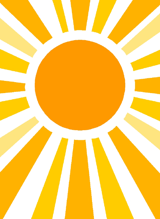 striped vector sun shine
