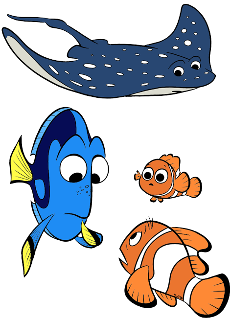 Ray clipart. Group finding dory clip