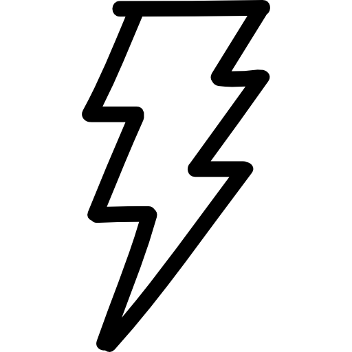 Vector screw svg. Thunder bolt hand drawn