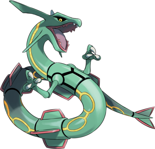 rayquaza transparent anime