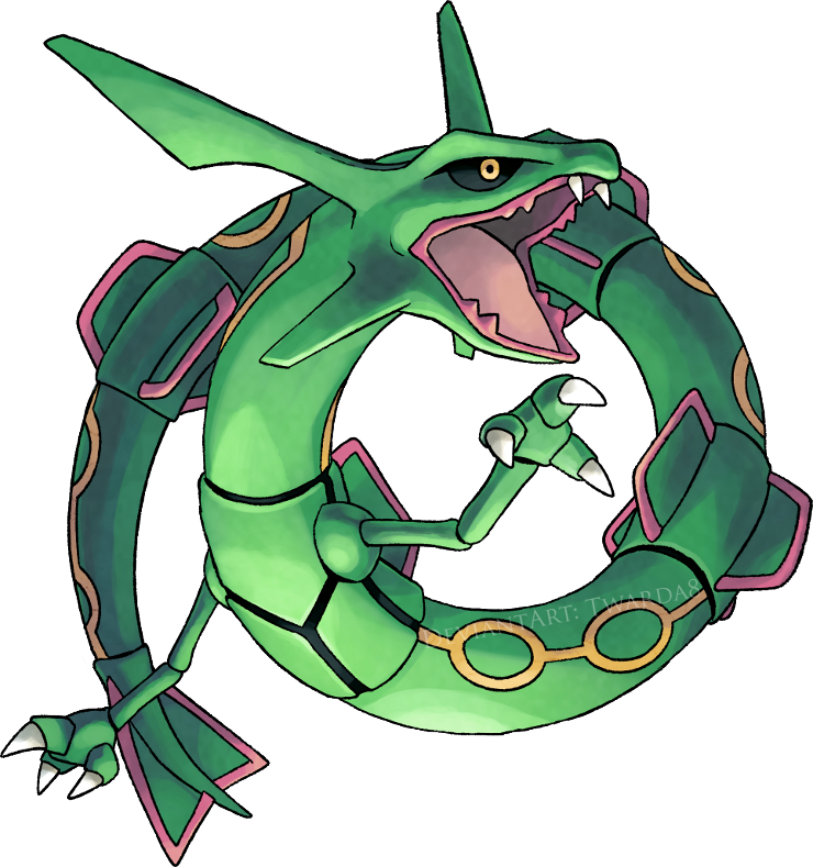 Rayquaza transparent. By twarda on deviantart