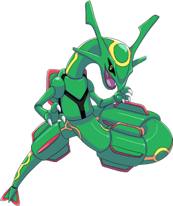 Rayquaza transparent. Shiny pok dex stats