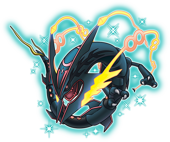 Rayquaza transparent blue. Shiny distribution on pok