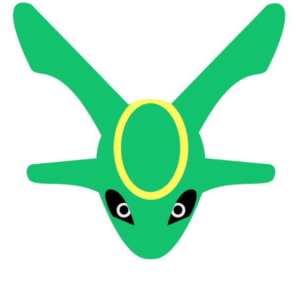Rayquaza transparent chibi. Head by hannahrart on