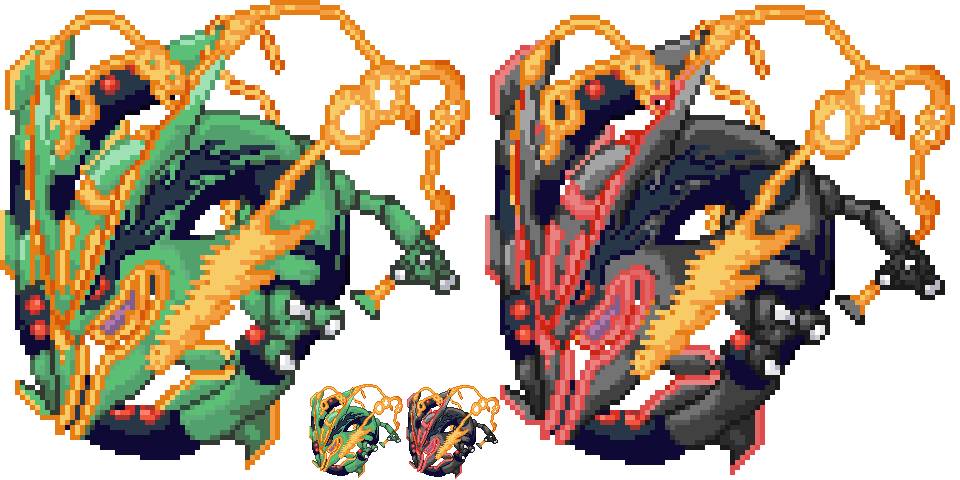 Weather trio alternate forms. Rayquaza transparent gen picture black and white stock
