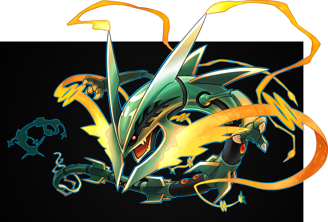 Mega by silentgpanda on. Rayquaza transparent realistic svg black and white download