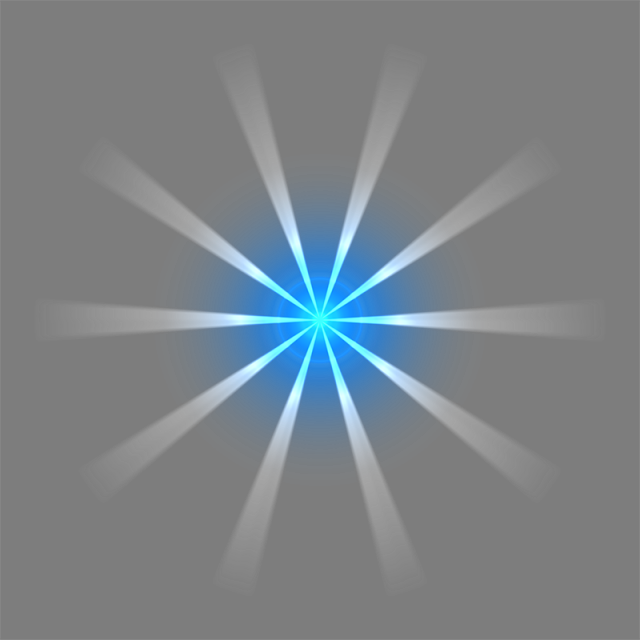 God rays png. White and blue vector