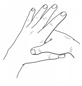 Razor drawing wrist. Unique pressure points