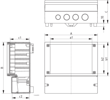 Rcp drawing construction. F bopla dimensions