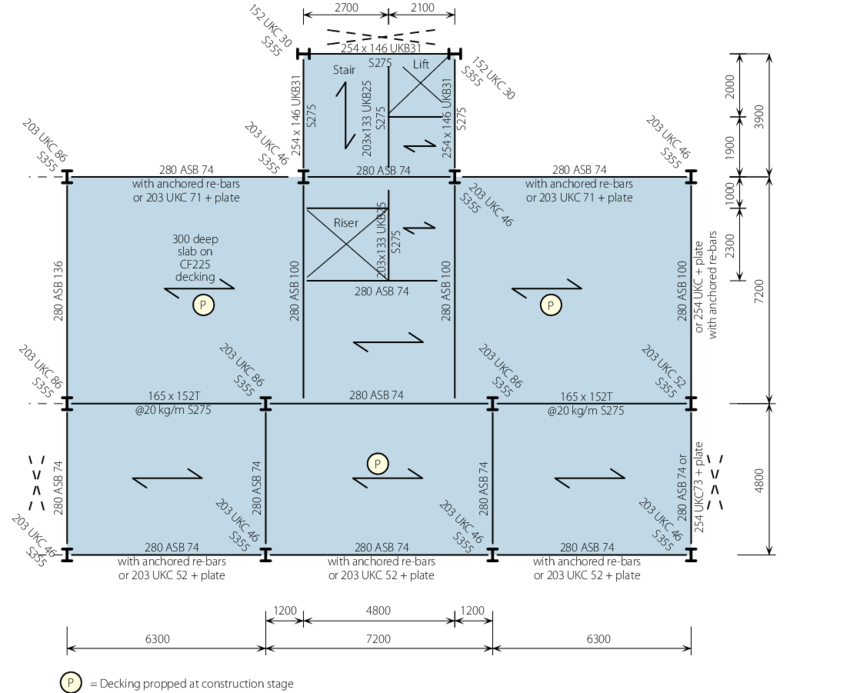 Rcp drawing structure plan. Structural layout for shallow