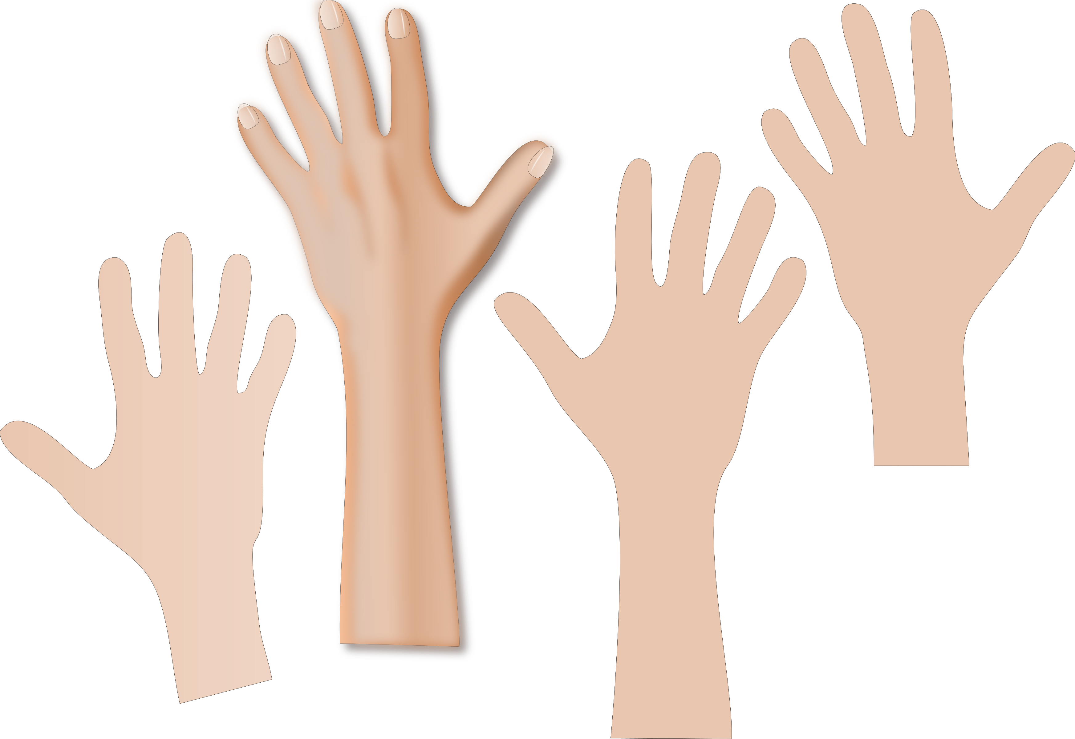 Hand reaching png. Hands with skin color
