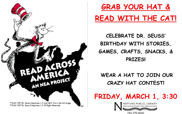 Read across america png. Neptune township you are