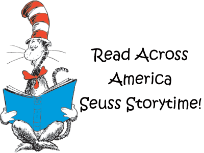 Read across america png. Dr seuss storytime in
