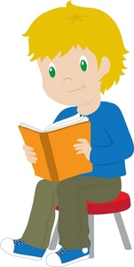 Reading clipart. Free image book illustration