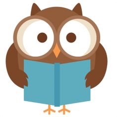 reading clipart owl
