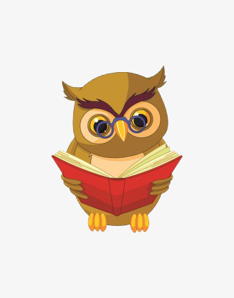 Cartoon learn png image. Reading clipart owl clip art royalty free library