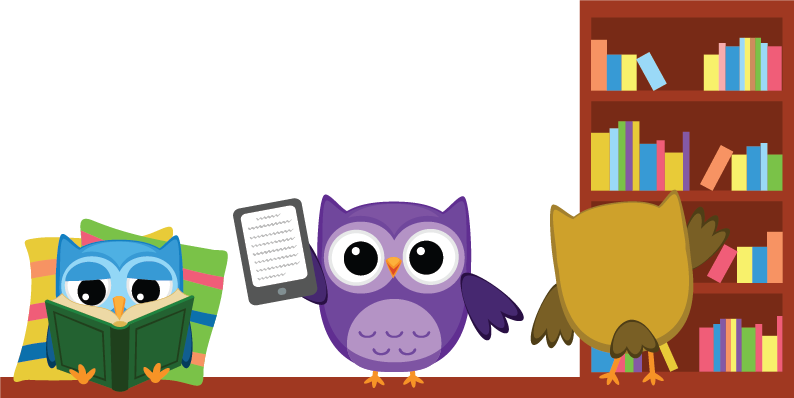 Reminder clipart owl. Whooo s reading bookshelf