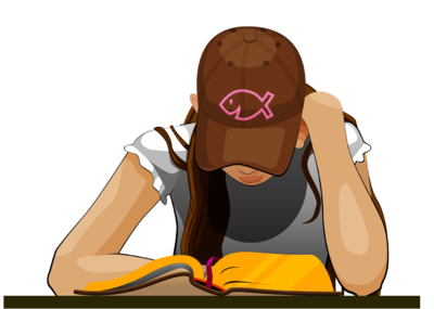 For her clipart reading. Image girl bible clip