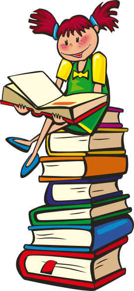 Read clipart. Girl reading book