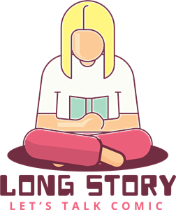 Reading vector story. Girl logo eps free
