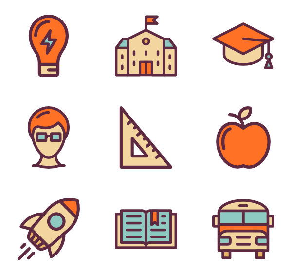 Reading vector. Icons free education pack