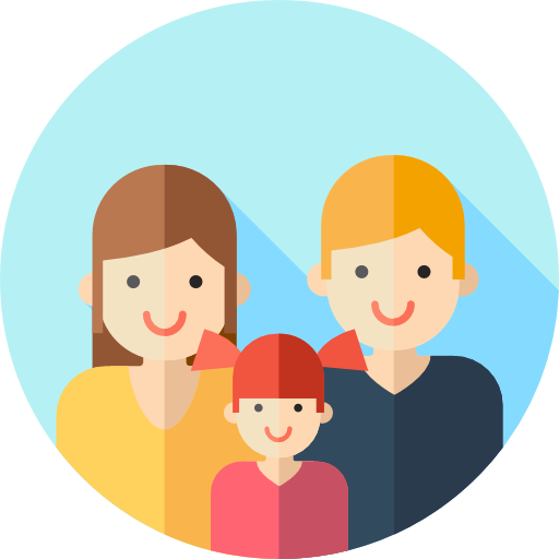 Vector present kid gift. Family free icons designed
