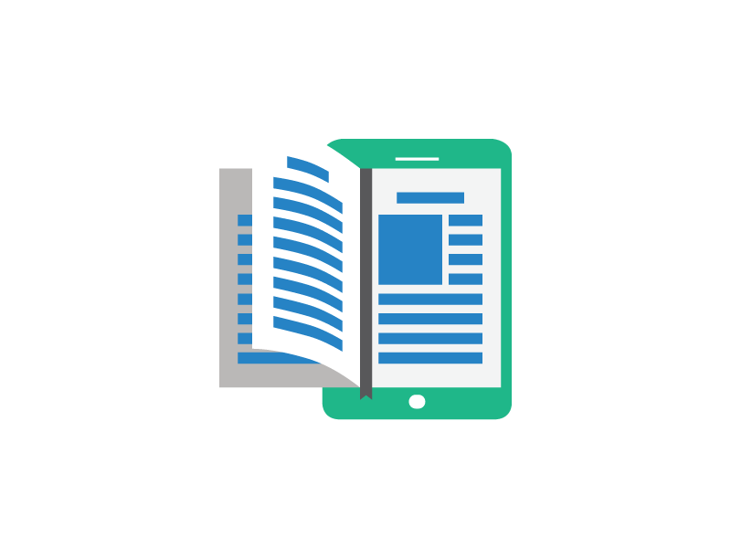 Reading vector magazine icon. Free png download book