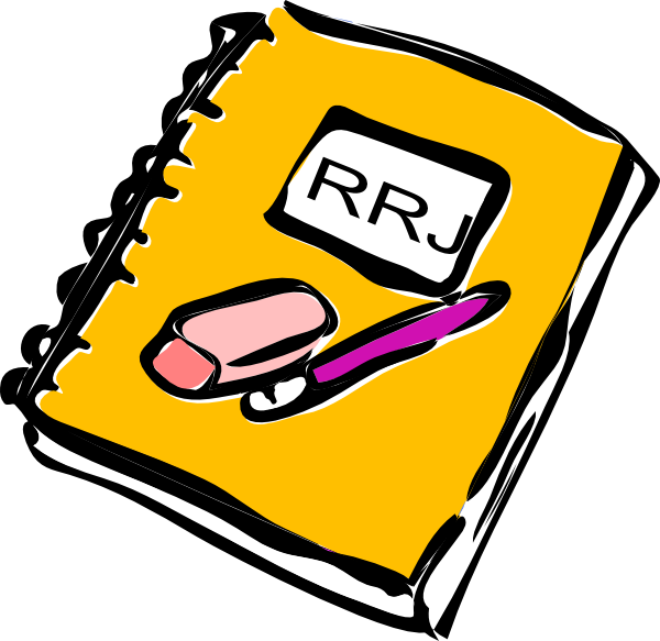 Reading vector reader. Response journal clip art