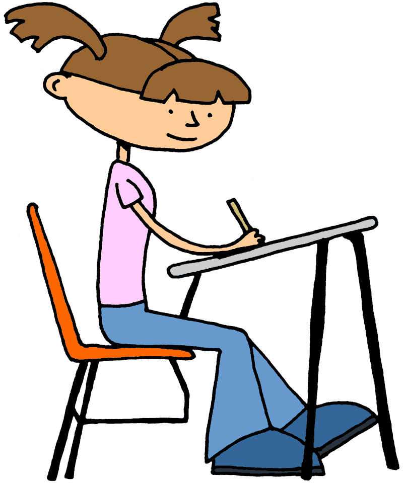 Reading vector student exam. Png test taking students