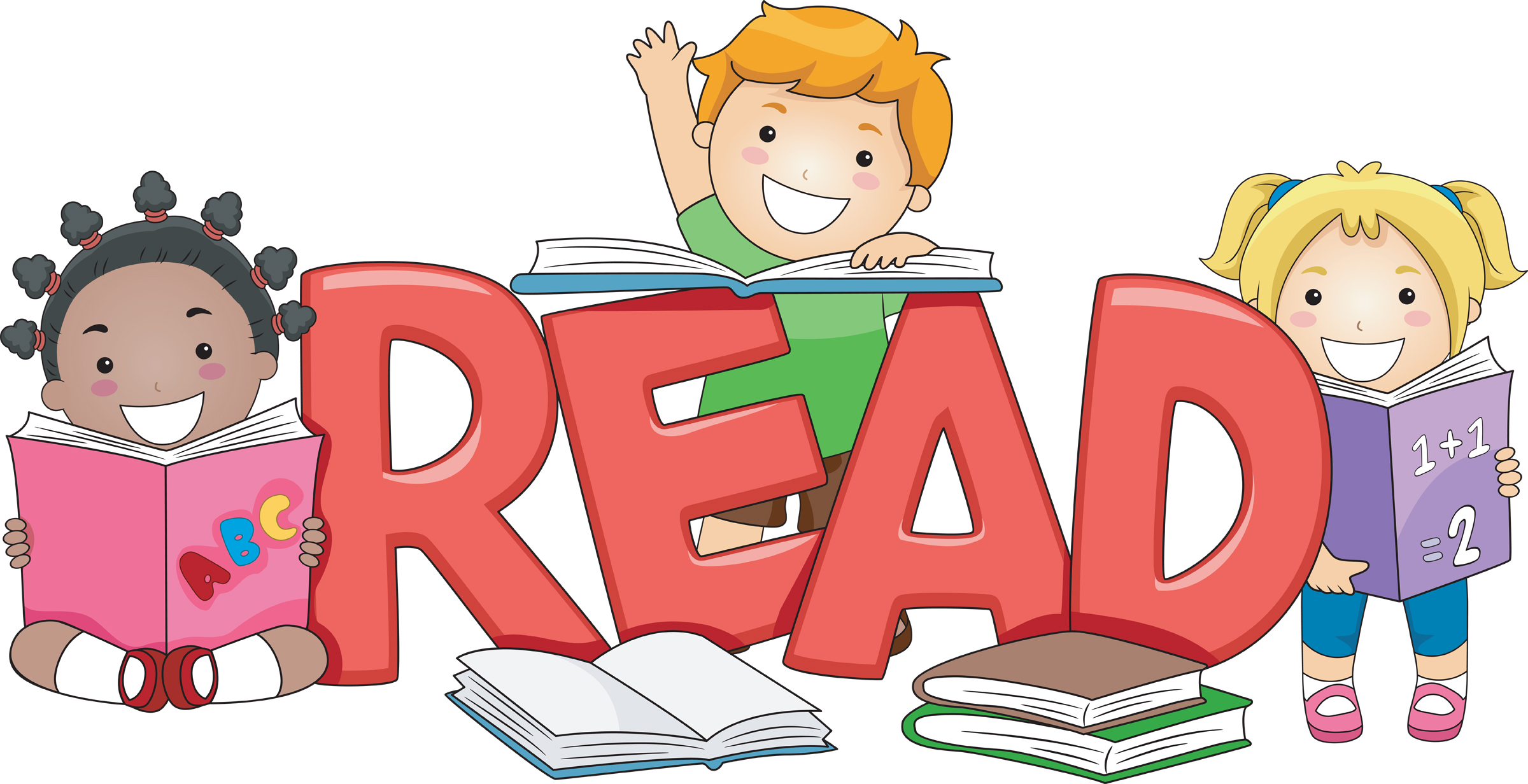 Readying. Free reading clip art