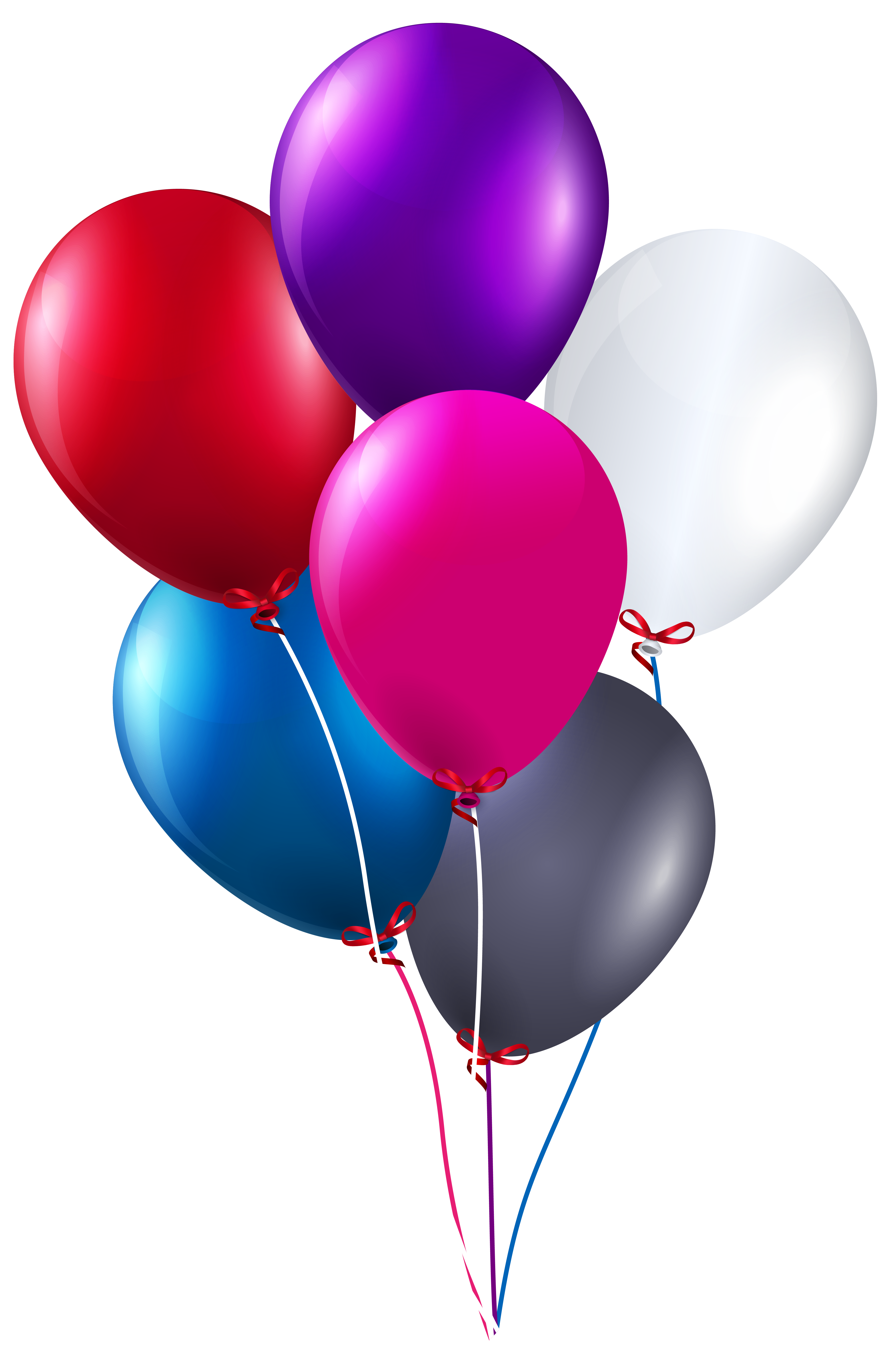 Real balloons png. Colorful bunch of clipart
