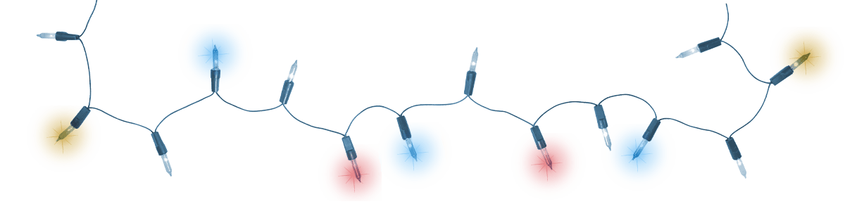 Real christmas lights png. Small transparent stickpng