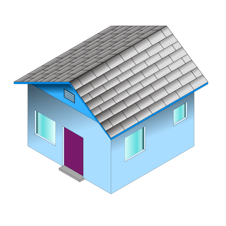 Real estate clipart 3d building logo. House d computer graphics
