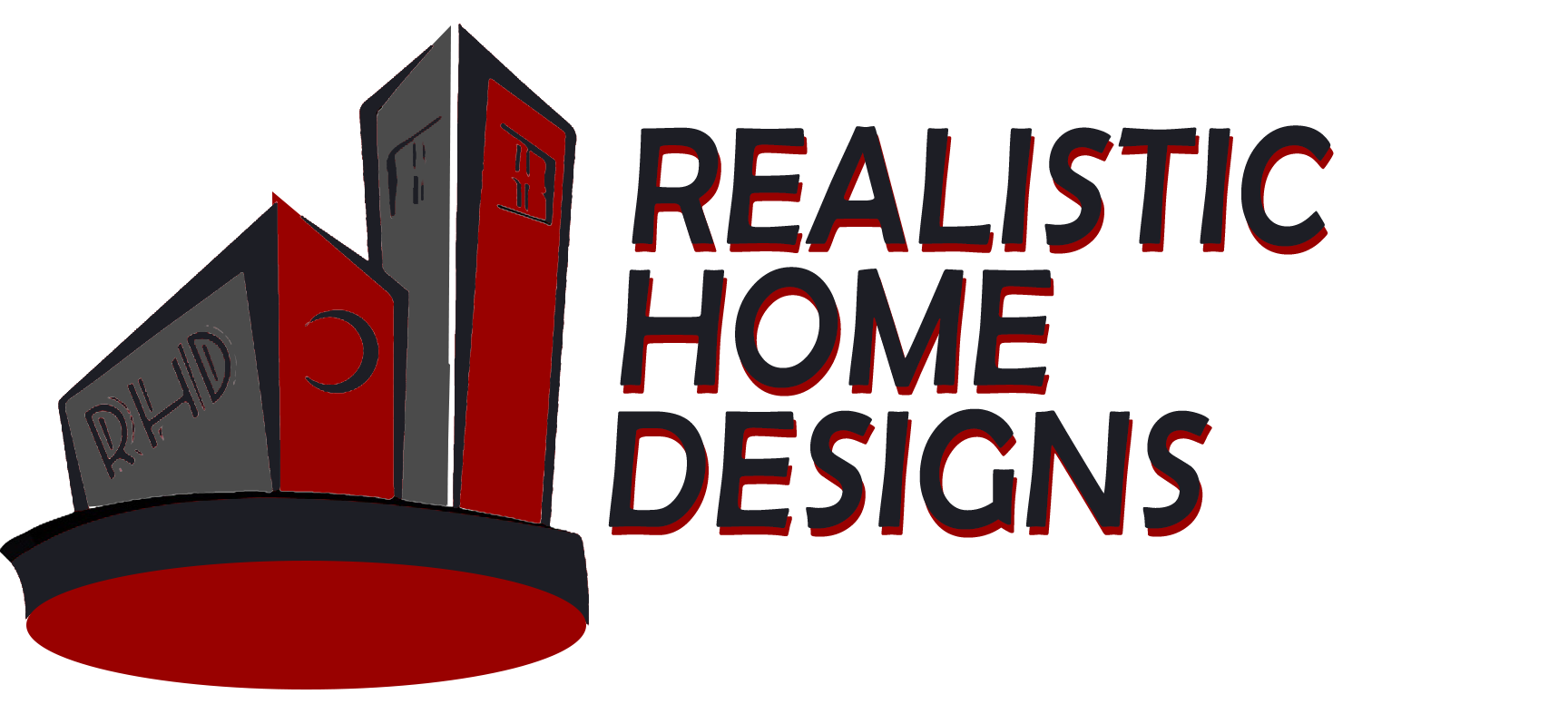 Real estate clipart 3d building logo. Home designs construction d