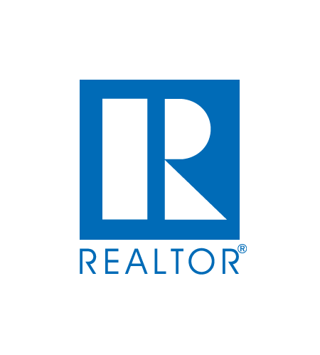 W transparent blue. The realtor logo www