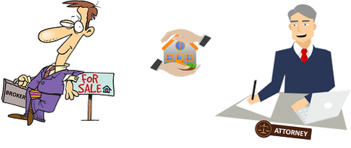 Real estate clipart brokerage. Broker or attorney who