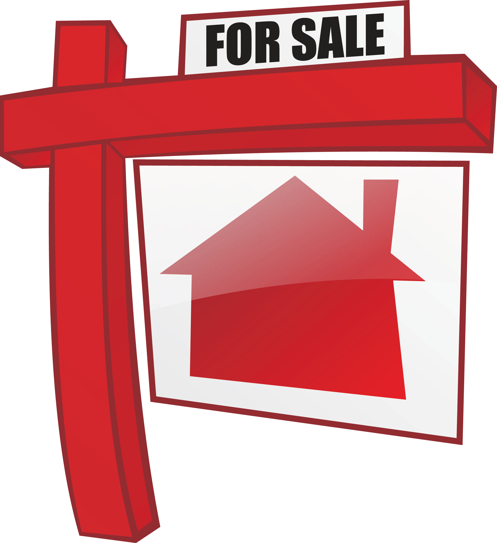 Sale clipart red. Small rural house with