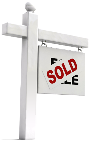 Real estate sold png. Sign space in your