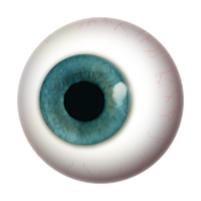 Png eye. Seven isolated stock photo