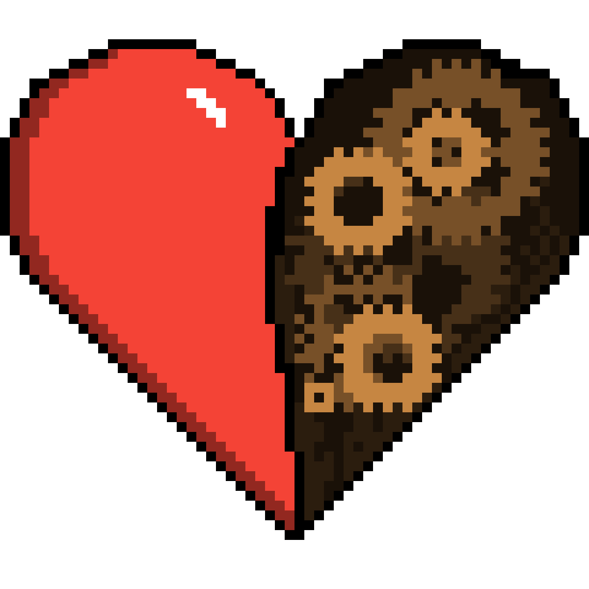 Real heart png. Pixilart vs mechanical by