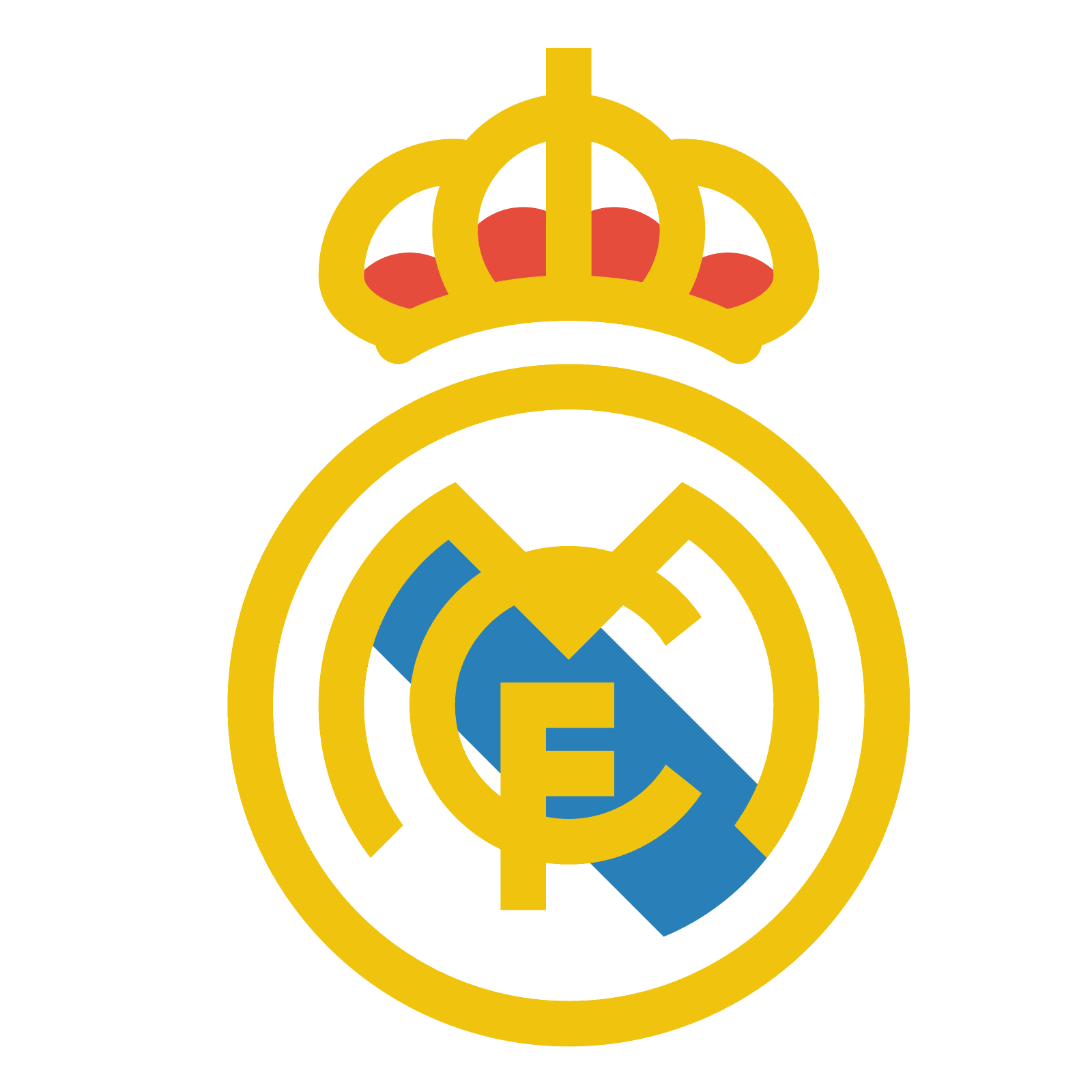 Club vector colorful. Real madrid icon free
