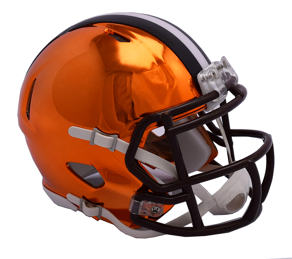 Cleveland browns helmet png. Chrome riddell speed authentic